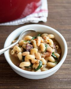 One-Pot Pasta e Fagioli (Italian Pasta and Bean Stew)