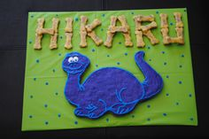 Birthday dog biscuit for a special puppy party that was dinosaur theme!  Had fun making it!