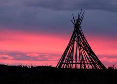 January 27, 2012: Tipi on Transtaiga Road in Baie-James, Quebec, photo by Axel Drainville