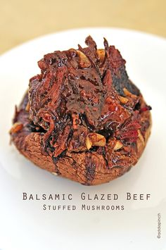 balsamic glazed beef stuffed mushrooms