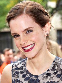<3 Emma Watson's bold lips