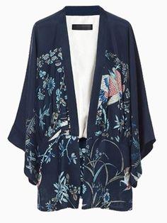 Brid Printed Kimono
