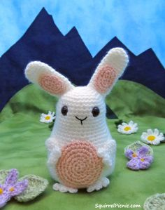 Jelly Belly Bunny - Free Amigurumi Crochet Pattern
