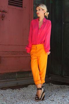 always love pink + orange together