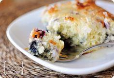 Blueberry Coconut Cake w/ Lemon sauce