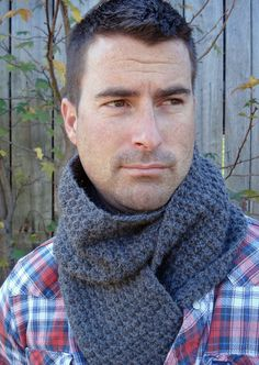 NEW - Bay Street Scarf - Men's, Unisex Crochet Pattern
