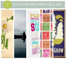 7 Sites for Free Printable Art
