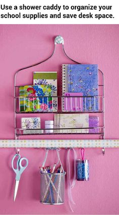 Dorm room organizer made from an old shower caddy. #herbnU