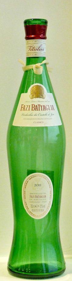 Fazi Battaglia - Verdicchio Bottle from Le Marche (empy, of course)