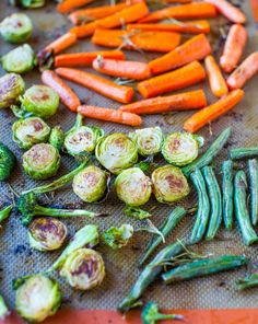Lemon Rosemary Coconut Oil Roasted Vegetables - If veggies taste like these, sticking to your New Years Resolutions is easy (vegan, GF) averiecooks.com