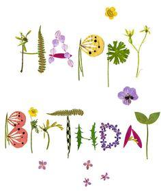 happy birthday in flowers