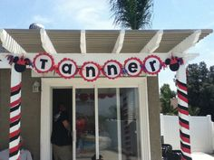 Mickey mouse birthday name banner by katieskreativekrafts on Etsy, $20.00