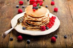 Simple Yogurt and Oatmeal Pancakes!  Healthy, energy-revving, satisfying and high in protein! And easy to make, to boot!