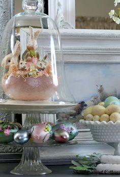 Bunnies under glass