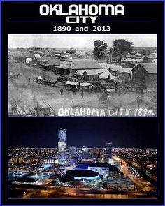 Tracy Duke's picture comparing Oklahoma City in 1890 and 2013!