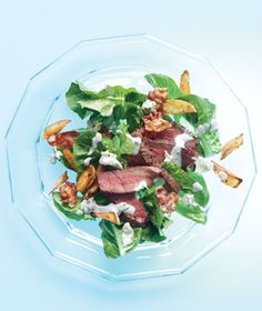 Steak Salad With Bacon, Crispy Potatoes, and Blue Cheese Dressing Recipe