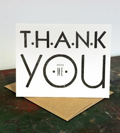 Simple Thank You Letterpress Cards - 6 Pack | Gifts Cards & Stationery | B. IMPRESSED | Scoutmob Shoppe | Product Detail