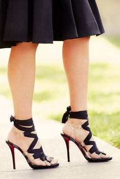 THESE SHOES: Lace up Louboutins