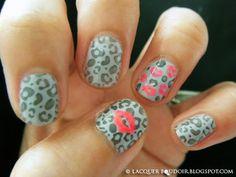 the kiss, cheetah print, nail designs, cheetah nails, pink lips, leopard nails, nail arts, animal prints, leopard prints