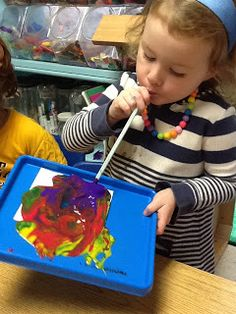 Playfully Learning: Straw Painting