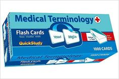 Medical Terminology Flash Cards (1000 cards)