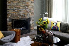 Ochre Rock Panel | Natural Stacked Stone Veneer for Wall Cladding