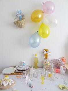 La déco de l'anniversaire d'Alice, 1 an.