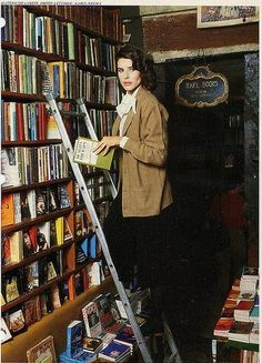 Fanny Ardant and books...nice.  Vogue 1979
