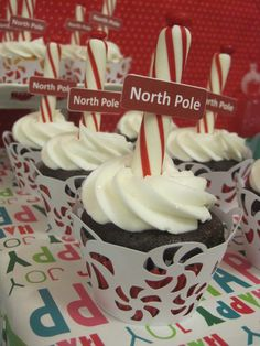 North Pole Cupcakes #northpole #cupcakes