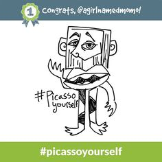 Congrats to @agirlnamedmomo - the #picassoyourself Daily Doodle Challenge winner of 500 SB for 9.16.14!