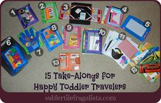 15 Take-Alongs for Happy Toddler Travelers {Great tips for Holiday travel with the kiddos!}
