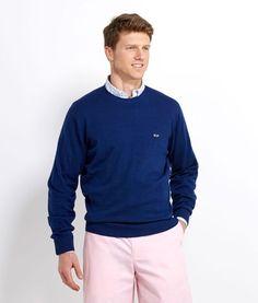 Mens Crewneck Sweaters: Crewneck Whale Sweater - Vineyard Vines