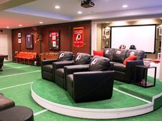 game rooms, woman cave, home theaters, seat, dream, basement, sport, fan, man caves