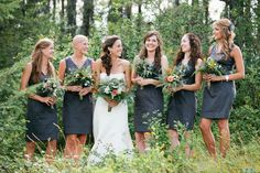 Bridesmaid's dresses by @Ann Taylor