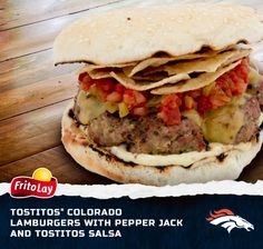 When we think of the Denver Broncos we think of our Colorado Lamburgers. These easy-to-make burgers will be a huge hit at your next gameday party!  #FritoLayGameDay. fritolay