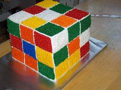 rubik's cube cake
