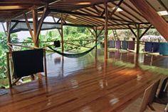 open air deck - yoga farm in costa rica
