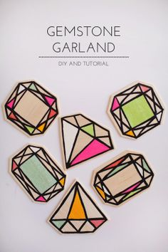 DIY Gemstone garland