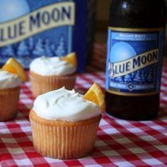 beer cake recipe, sweet, food, yummi, cookie cutters, beer flavored cupcakes, blues, dessert, blue moon cupcakes