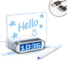 ENHANCE 4 Port USB Hub Glowing Memo Alarm Clock & Temperature for Apple iPhone 5 , 4S , 4 , 3GS / iPod touch , nano , shuffle / Macbook , iMac & More - Includes 30 Pin USB Cable by Accessory Power. Save 50 Off!. $14.99. Fun & function, the ENHANCE USB Memo Alarm Clock hub has it all!Sync Your Life With EaseThis unique hub houses 4 USB 2.0 ports, enabling you to keep all your devices connected at once. Plug in your mouse, keyboard, printer, flash drive, speakers, headsets, extern...