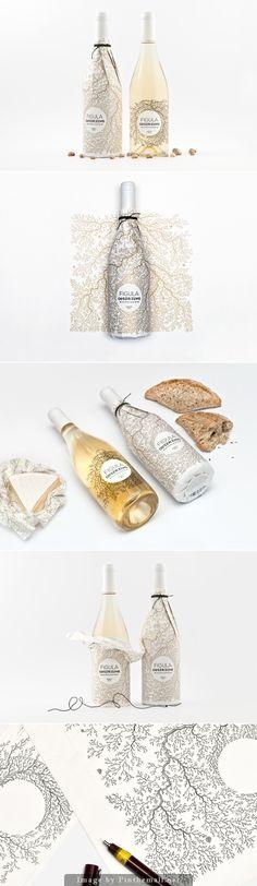 Figula Olaszrizling 2013 Wine Label Design// wow
