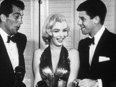 Marilyn with Dean Martin and Jerry Lewis.