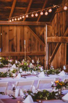 barn reception, photo by Forged in the North http://ruffledblog.com/handcrafted-finger-lakes-wedding #weddingvenue #barnwedding