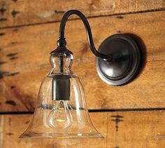 Rustic Glass Sconce #potterybarn