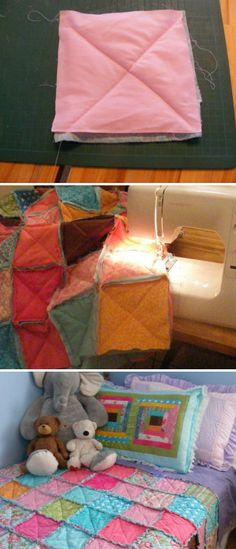 Rag Quilt - someone asked me recently how to do these.  Here is a site with simple instructions.  And you don't really need to know much more than cutting and sewing straight lines.  If I can do it, anyone can.