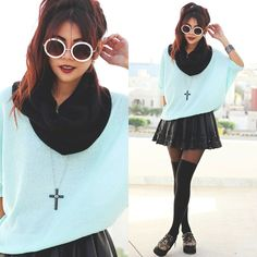 fashion passion, awesom style, cloth, blue, outfit, dark fashion, crosses, closet, clueless