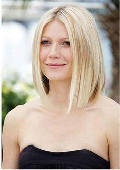 Gwyneth Paltrow's sleek choppy Neck Length Bob Hairstyles short, medium haircuts, gwyneth paltrow, medium length hairstyles, bob style, bob hairstyles, long bobs, medium hairstyles, bob haircuts