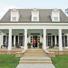 pretty front porch (urban grace interiors via southernliving)