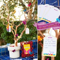 How To Make A Baby Shower Wishing Tree + Free Printables {Butterfly Theme} http://hwtm.me/ZrfIak @HUGGIES Baby Shower Planner Baby Shower Planner