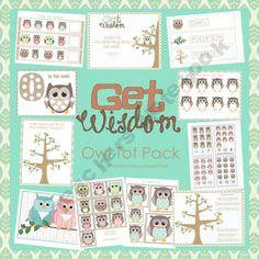 shop, owl preschool, printables, learning centers, teacher notebook, preschool pack, owls, kid, toddler activities